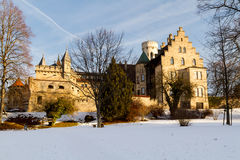城堡利希滕斯泰因,德国 库存照片