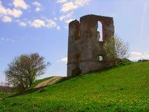 城堡前个s塔 免版税库存图片