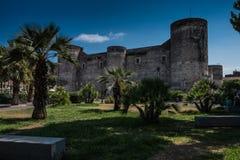 城堡卡塔尼亚西西里岛ursino 免版税库存图片