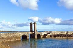 城堡卡斯蒂略de圣加百利在阿雷西费;兰萨罗特岛;金丝雀是 库存照片