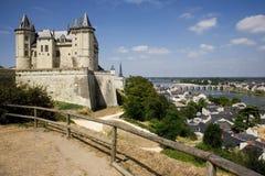 城堡卢瓦尔河saumur谷 免版税库存图片