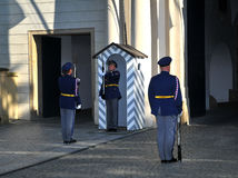 城堡卫兵布拉格 库存图片