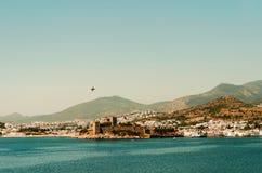 城堡和喷气机 免版税库存照片