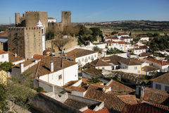 城堡和城堡。Obidos。葡萄牙 库存图片