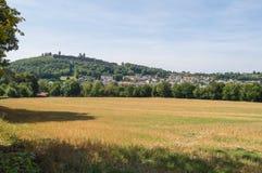城堡和市的看法Montmédy 免版税库存图片