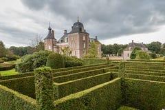 城堡和庄园在Hof搬运车Twente荷兰的Weldam 库存图片