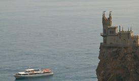 城堡和船 库存照片