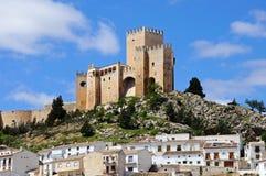 城堡和镇, Velez布兰科,西班牙。 库存图片