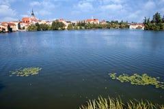 城堡和镇Jindrichuv赫拉德茨,波希米亚,捷克共和国 免版税库存照片