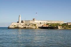 城堡哈瓦那morro 库存图片
