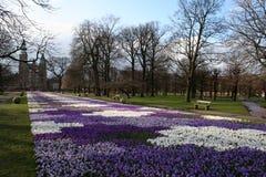 城堡哥本哈根rosenborg春天 免版税库存照片