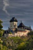 城堡哥特式karlstejn 库存照片