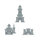 城堡商标模板 库存例证