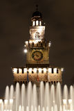城堡喷泉 免版税库存照片