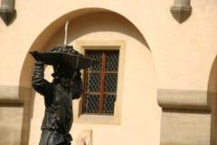 城堡喷泉hora kutna 库存图片