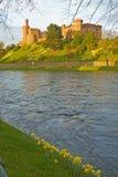 城堡因弗内斯岬河春天 库存照片