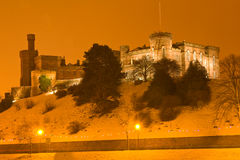 城堡因弗内斯晚上 免版税库存图片