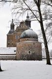 城堡在冬天 库存图片