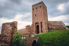 城堡在切尔斯克 库存图片