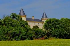 城堡在南法国 免版税库存图片