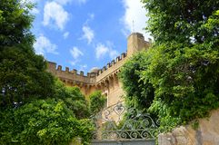 城堡在南法国 库存照片