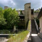 城堡在卢森堡 库存照片