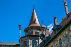 城堡在城市采斯瓦伊内,老 中世纪城堡14世纪 Latv 免版税库存图片