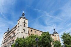 城堡在托莱多,西班牙 库存图片
