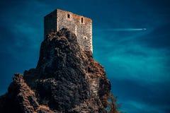 城堡在晚上 免版税图库摄影
