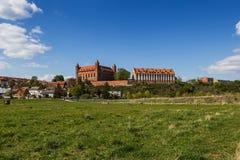 城堡在格涅夫,波兰 图库摄影