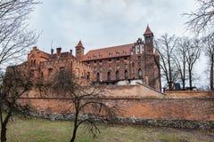 城堡在格涅夫,波兰 免版税图库摄影