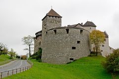 城堡在瓦杜兹,利希滕斯泰因 免版税库存图片