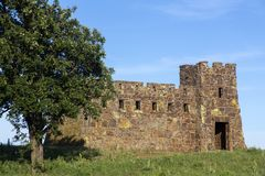 城堡在科罗纳多高度 库存照片