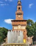 城堡在米兰意大利 库存图片