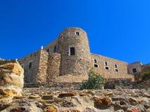 城堡在纳克索斯镇 免版税库存图片