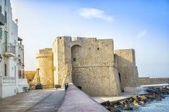 城堡在美丽的Monopoli,意大利 免版税库存照片