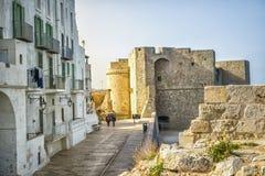 城堡在美丽的Monopoli,意大利 免版税图库摄影