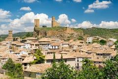城堡在西班牙 库存图片