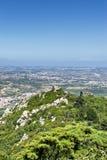 城堡在辛特拉,葡萄牙停泊 免版税图库摄影