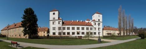 城堡在镇Bucovice在捷克 免版税图库摄影