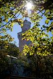 城堡在阳光下 免版税库存图片