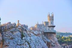 城堡在雅尔塔附近的燕子S巢在克里米亚 免版税库存图片