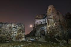 城堡在雷根斯堡,德国附近破坏多瑙斯陶夫 免版税库存图片