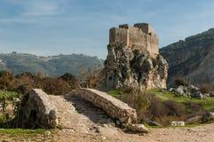 城堡在黎巴嫩 免版税库存照片