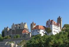 城堡在Bernburg,德国 库存图片