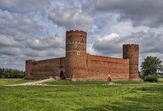 城堡在Ciechanow 免版税库存照片