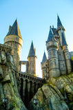 城堡在Hogwarts,环球影业 免版税库存照片