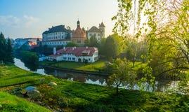 城堡在Jindrichuv赫拉德茨 库存照片
