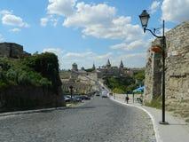 城堡在Kamenetz-Podolskyi 免版税库存图片