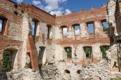 城堡在Krupe 免版税库存照片
